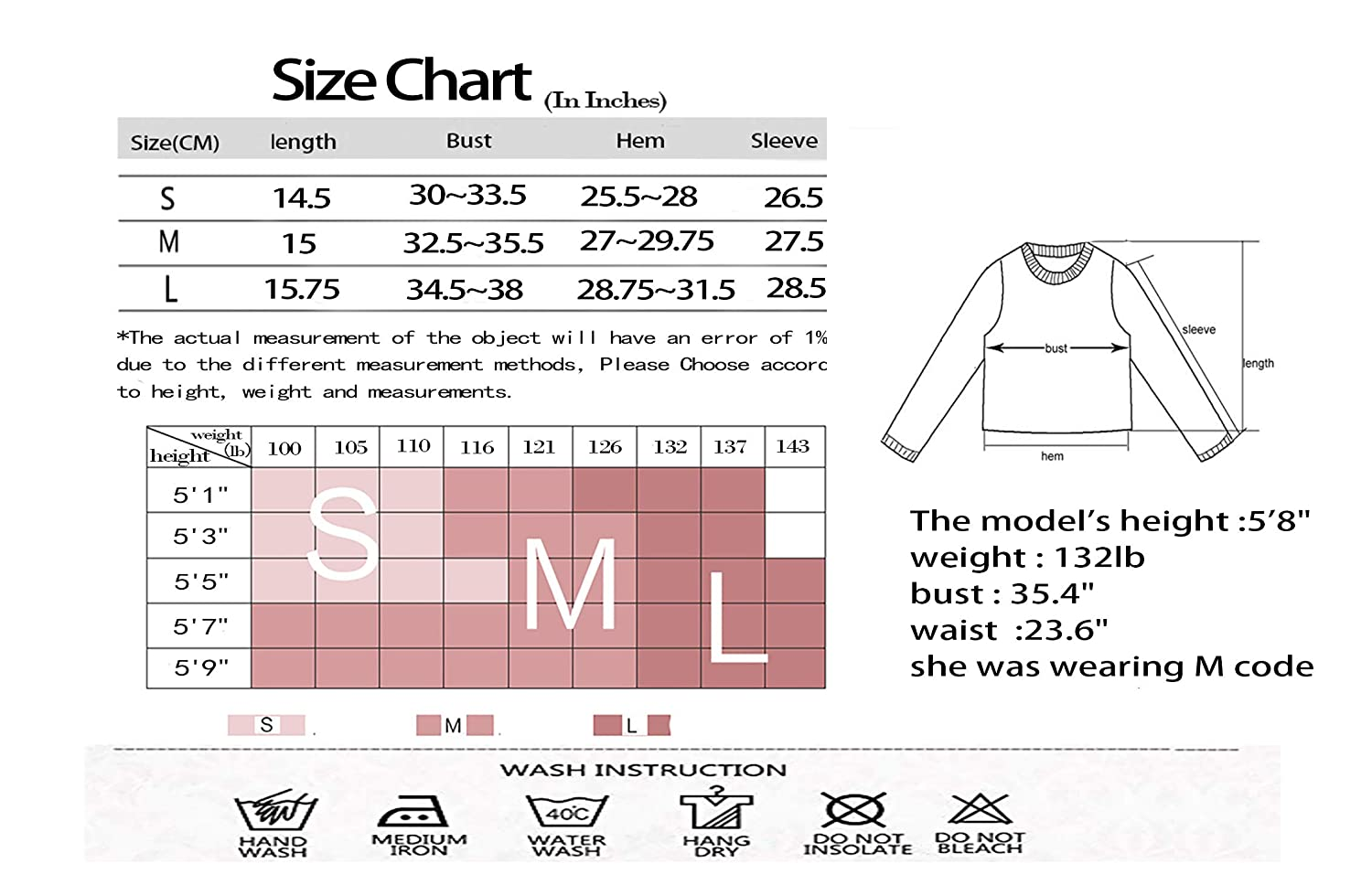 Urhapc Women/'S Long Sleeve Crop Top with Hoodies Workout Pullover Sweatshirt with Thumb Holes Cute Pullover Knitted Crop Top