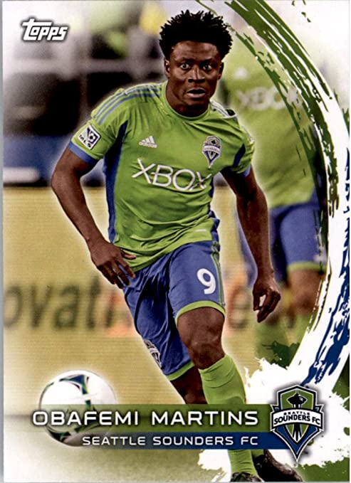 SEATTLE SOUNDERS FC NIGERIA 2 OBAFEMI MARTINS 2013 TOPPS SOCCER TRADING CARDS