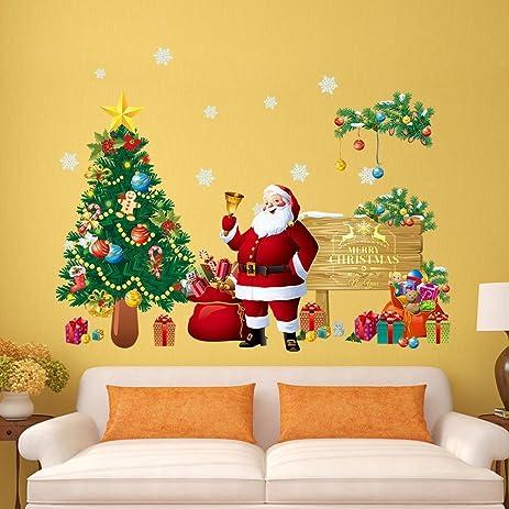 2 Style Diy Christmas Window Stickers Decorations Merry Xmas Tree Show Shop Glass Door