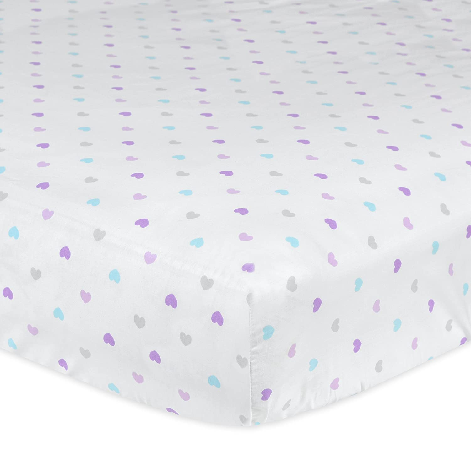 Gerber 100% Cotton Fitted Crib Sheet, Little Hearts 36139G