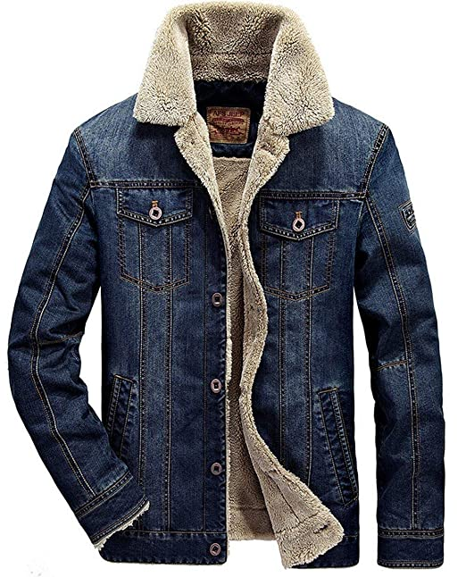 Saoye Fashion Chaqueta De Mezclilla De Cachemira para Hombre ...