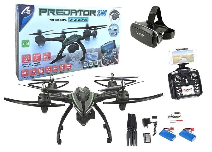 Outletdelocio Drone radiocontrol Grande con cámara Predator FPV ...
