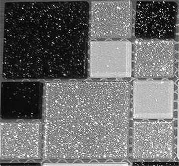 Xcm Muster Glas Mosaik Fliesen Muster Mit Steinen In Zwei - Mosaik fliesen größe