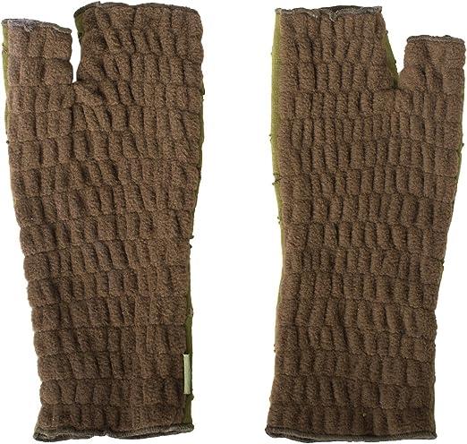 Vishes Mit Fleece gef/ütterte Handstulpen mit gro/ßer Blumenstickerei Alternative Bekleidung