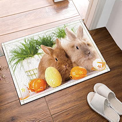 Amazon Com Nymb Bunny Rabbit Color Egg Easter Bath Rugs Non Slip