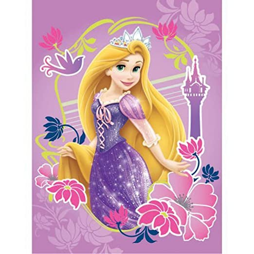 Amazon Disney Tangled Magic Fleece Blanket Home Kitchen Adorable Rapunzel Throw Blanket