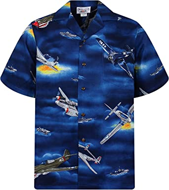 P.L.A. Original Camisa Hawaiana, Airplanes, azul 3XL: Amazon.es: Ropa y accesorios