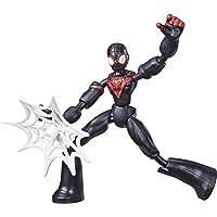 Marvel Spider-Man Bend and Flex Miles Morales-actiefiguur, flexibele figuur van 15 cm, met webaccessoire, voor kinderen…