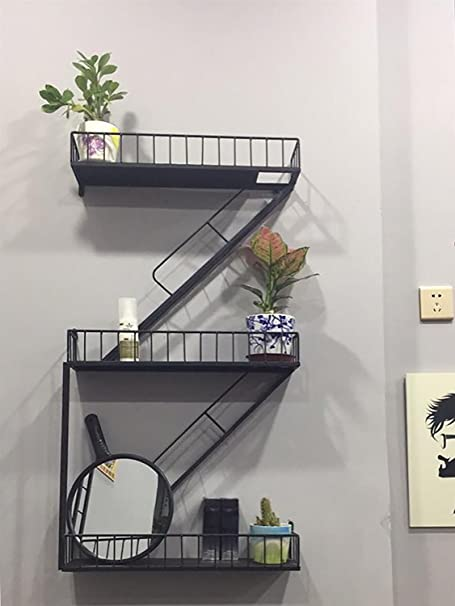 INTASTE Decoración de Pared Loft Hierro Retro Escalera Industrial Estante de Hierro Divisores Estantes (Estilo : Industrial Retro): Amazon.es: Hogar