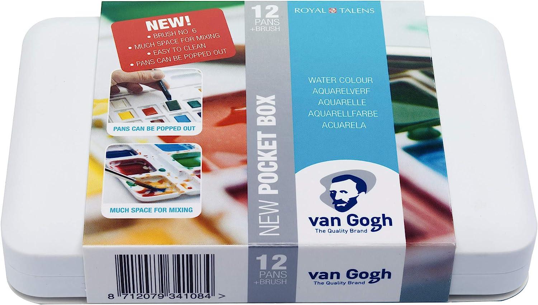 Van Gogh Caja de 12 acuarelas, Multicolor (Royal Talens 20HP8631): Amazon.es: Hogar