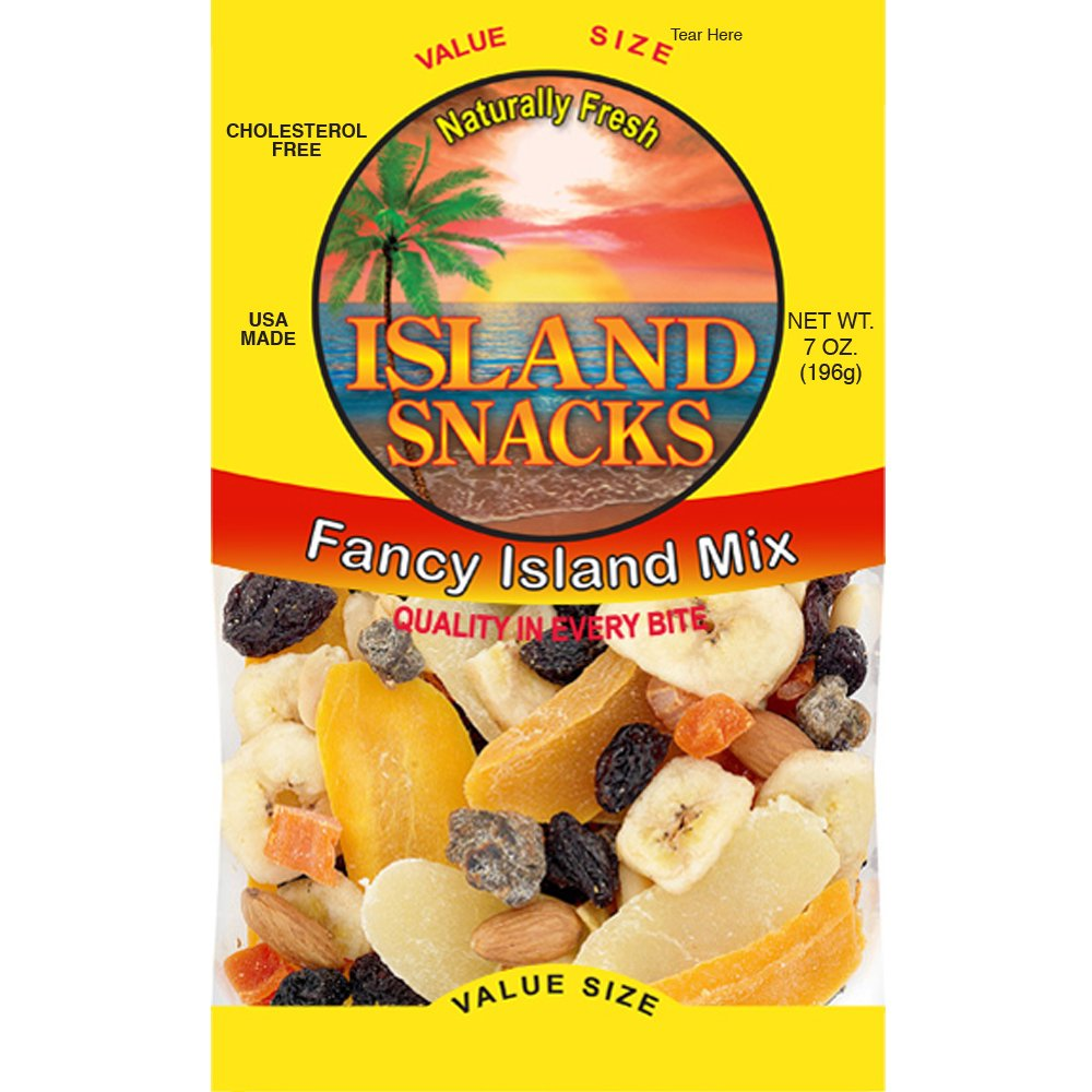 Island Snacks Fancy Island Mix, 7 Ounce, 6 Count
