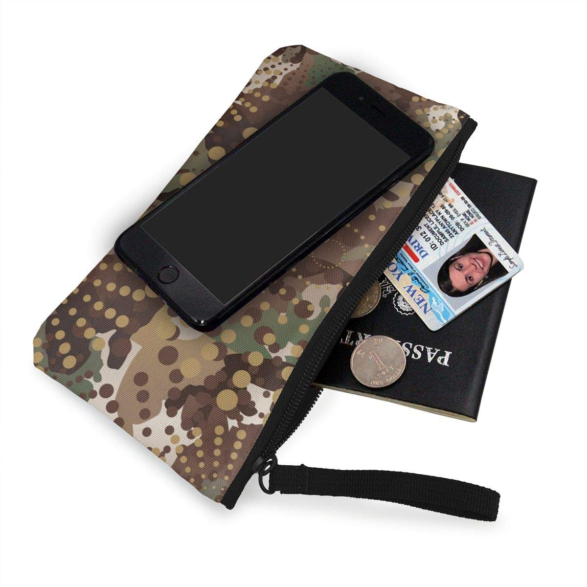 Yamini Camouflage and Halftone Pattern Background Cute Looking Coin Purse Small and Exquisite Going Out to Carry Purse