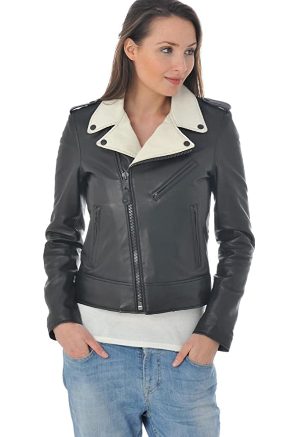 Vêtements En Accessoires Schott Et Ecru Cuir Noir Femme Lcw1601d Perfecto 0awd1xq0