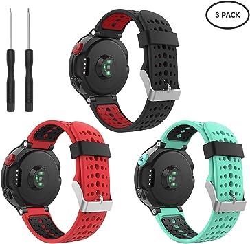 kitway Compatible con Forerunner 235 Correa de Reloj, Banda de Reemplazo Silicona Suave Sports Pulsera para Forerunner 235/220/230/620/630/735XT Smart Watch: Amazon.es: Deportes y aire libre