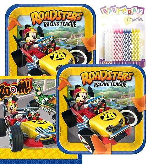 Disney Mickey Roadster Party platos y servilletas sirve 16 ...