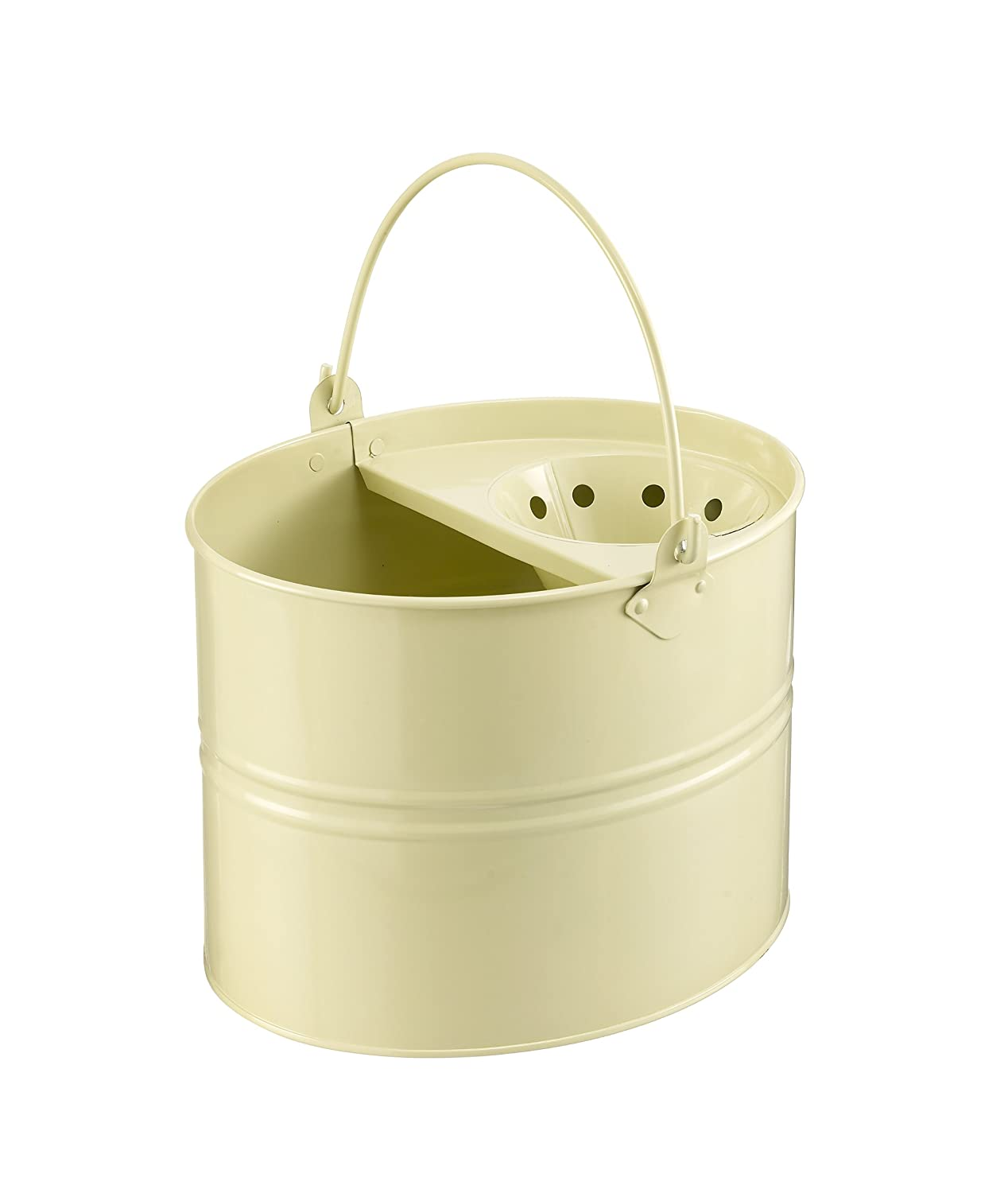 Lily and Brown Metal Mop Bucket