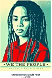 RARE POSTER graffiti SHEPARD FAIREY we the people protect eachother 2017 REPRINT giclee #'d/100!! 12x18