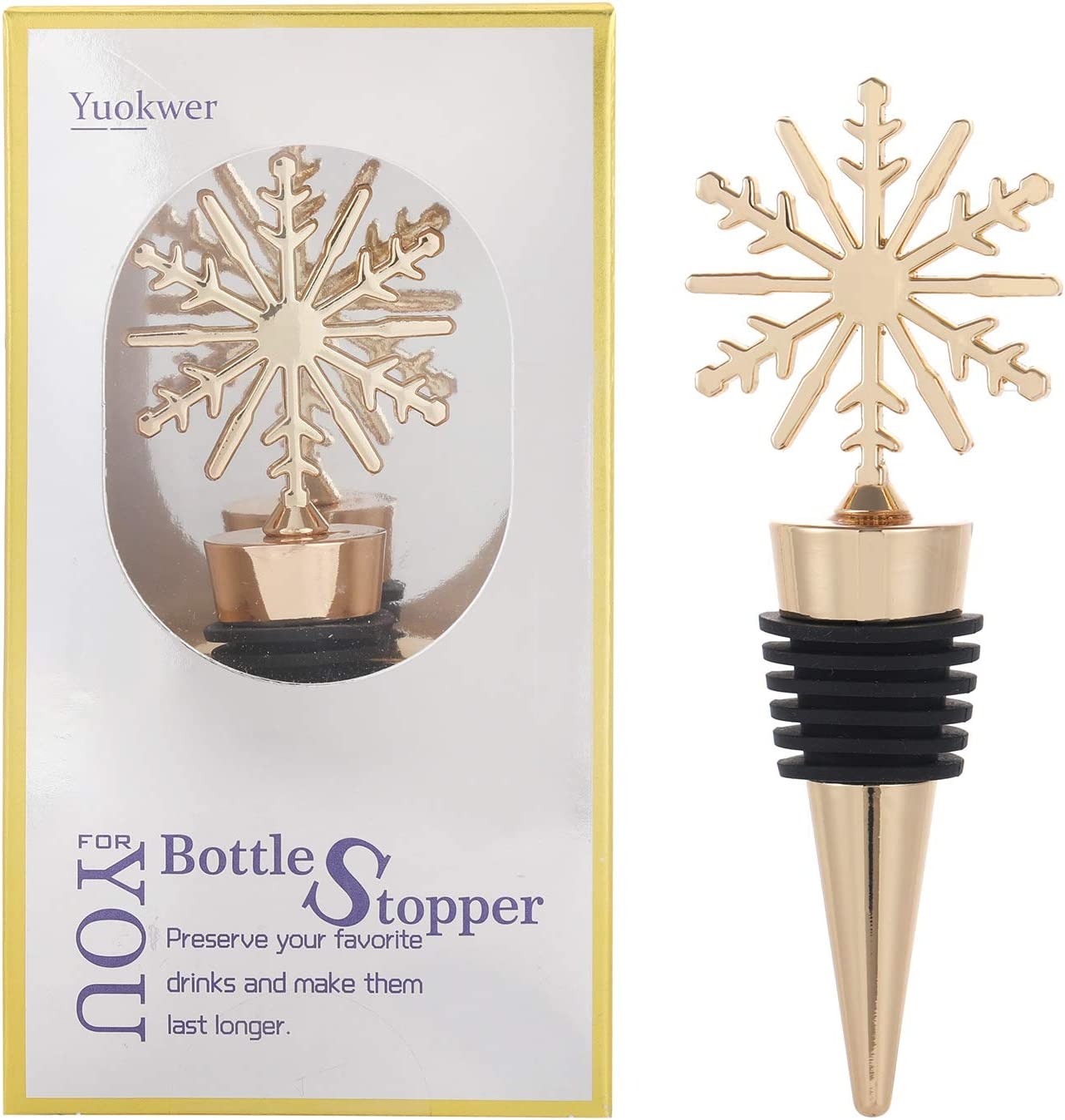 Wedding Material Metal Wine Bottle Stoppers for Gifts Holiday Party Bar