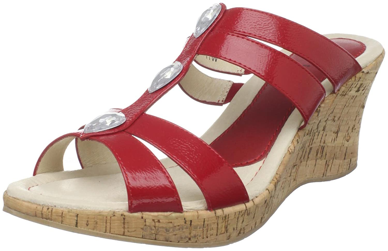 David Tate Women's Jewel Sandal B0042DZ3WG 7 XW US|Red