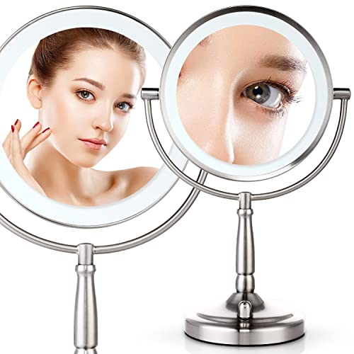 Musco 7x Lighted Magnifying Two-Sided Makeup Mirror
