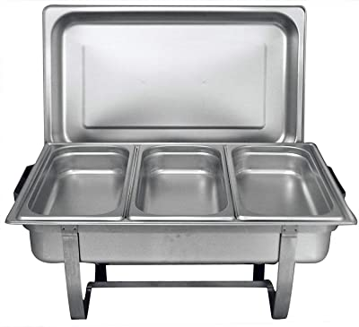 Tiger Chef Stainless Steel Chafer, Full Size Chafer, 8 Qt