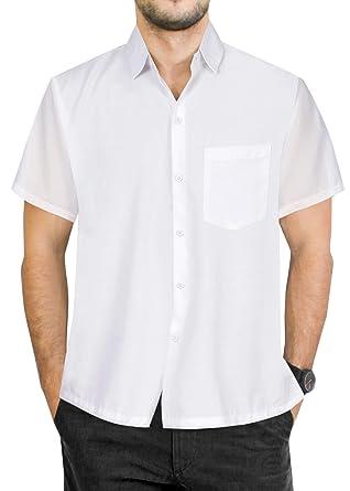 "0b97239d2c11 LA LEELA Rayon Beach Floral Men's Shirt White X-Small | Chest 36"" -"