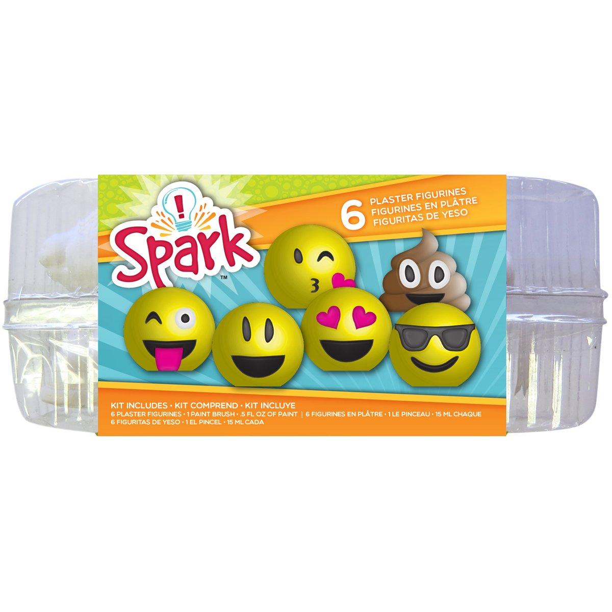 Colorbok 55027 Spark Plaster Value Pack Emoji Plaster Kit