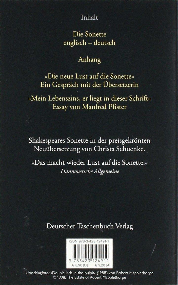 Die Sonette Zweisprachige Ausgabe Amazonde William