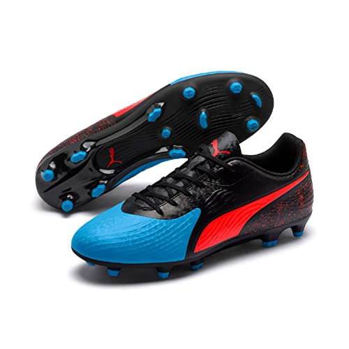 798811ee6301e9 Puma Men s ONE 19.4 FG AG Bleu Azur-Red Blast-Black Football Boots-8 ...