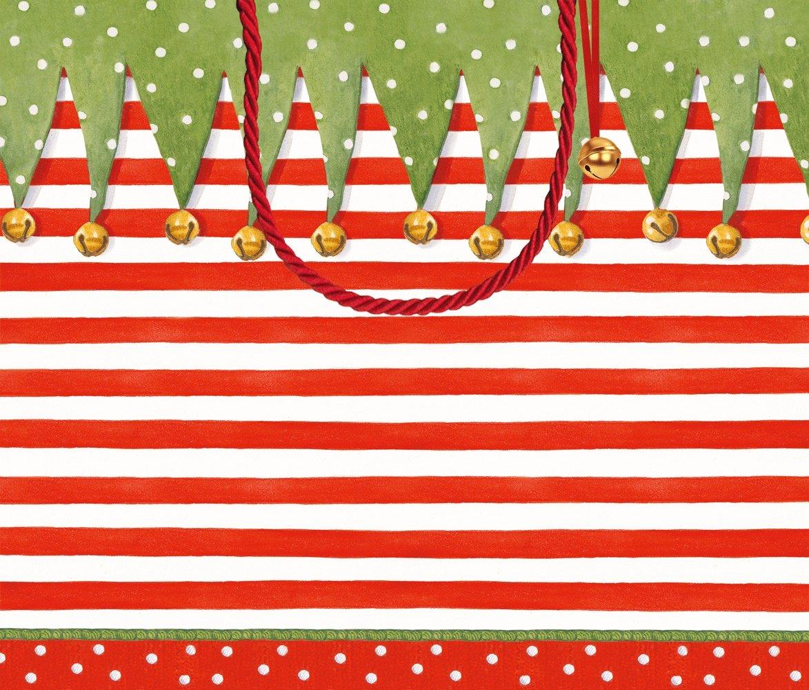 delicate Caspari grande rayas calcetín bolsa de regalo – Multicolor