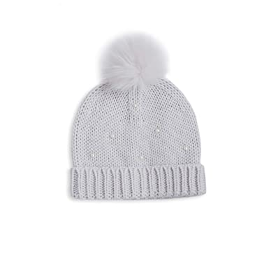 Image Unavailable. Image not available for. Colour  Katie Loxton Pearl  Scattered Grey Knitted Bobble Hat 3a3ec1016787