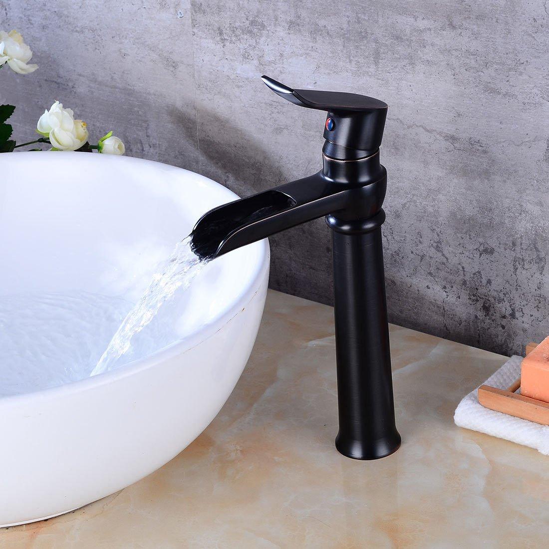 Good quality Antiquitäten Becken Spül Mischer Tap Antikes Badezimmer Waschbecken Wasserhahn Luxus Badezimmer heißen und kalten Waschbecken Wasserhahn Wasserfall Wasserhahn