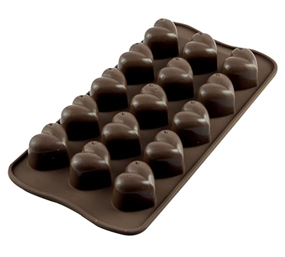 Silikomart Silicone Easy Chocolate Mold, Hearts Cake & Dessert Decorations at amazon
