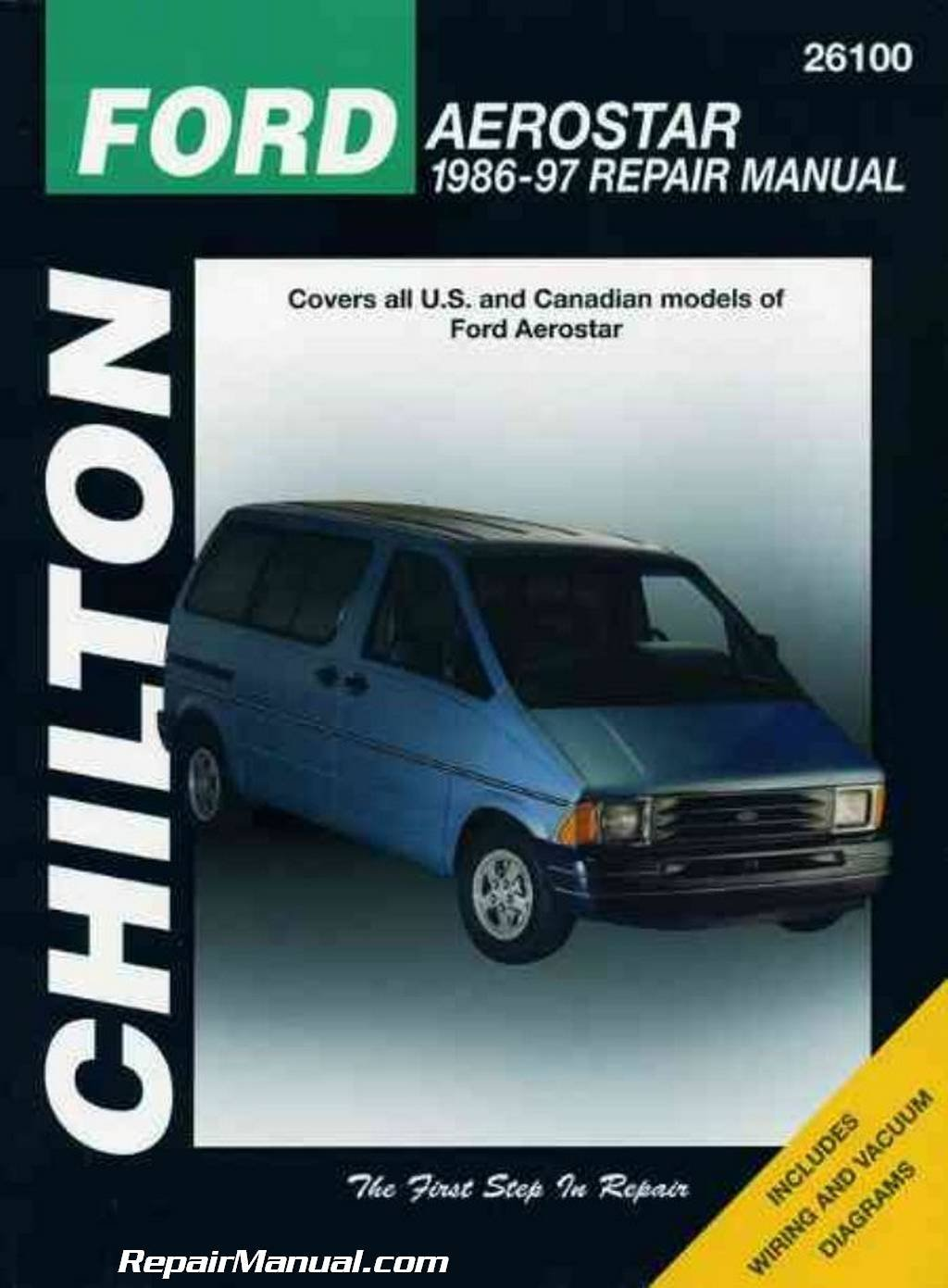CH26100 Chilton Ford Aerostar 1986-1997 Repair Manual: Manufacturer:  Amazon.com: Books