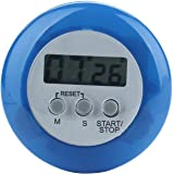 Generic Mini Round LCD Digital Cooking Kitchen Countdown Timer Alarm Blue