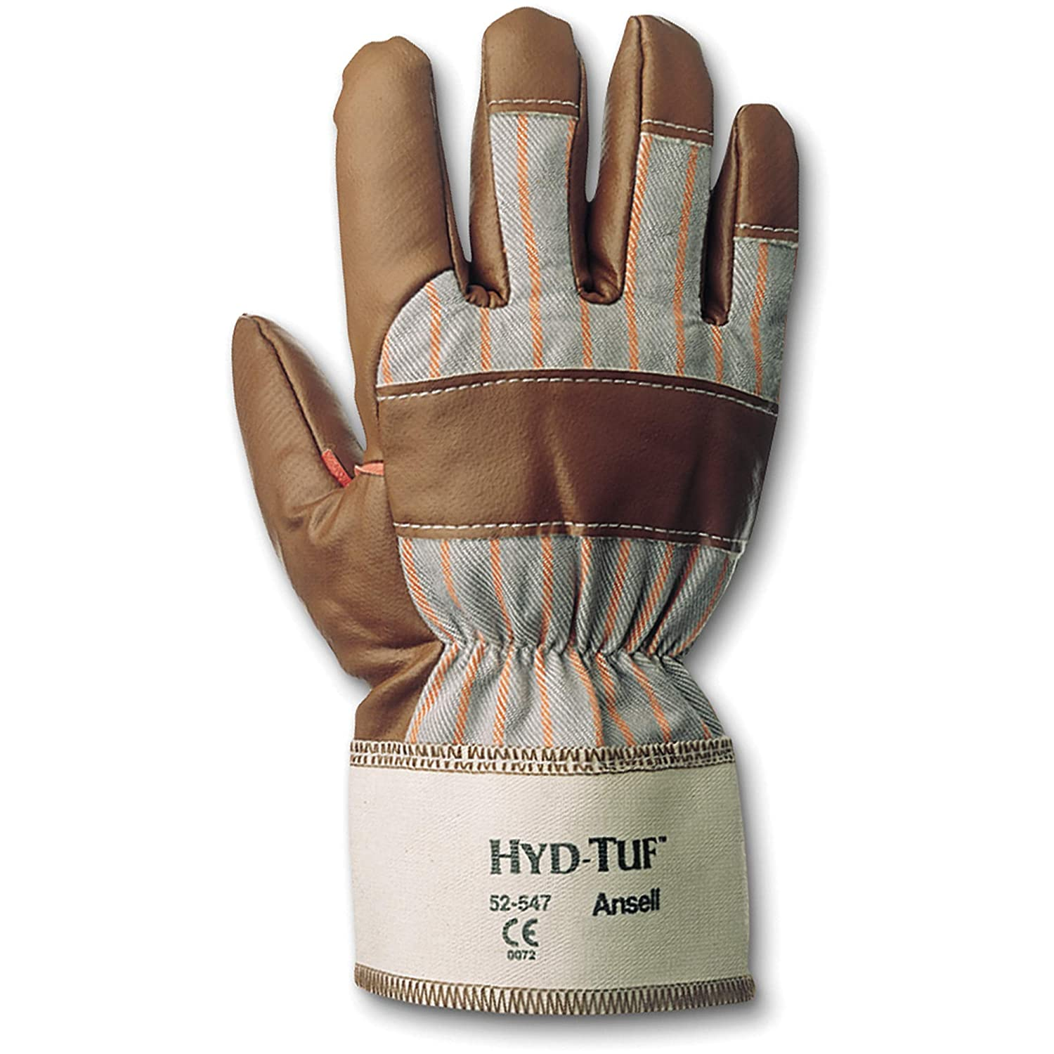 10 Length Brown Ansell 103569 HYD-Tuf 52-547 Gunn Cut Coated Work Gloves 0.5 Height Size 10 Pack of 12 6.5 Wide 0.5 Height 10 Length 6.5 Wide
