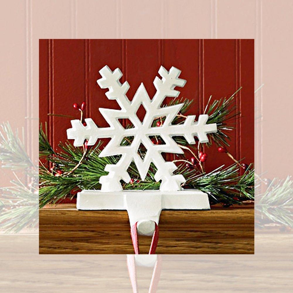 Park Designs Snowflake White Stocking Holder (22-855A)