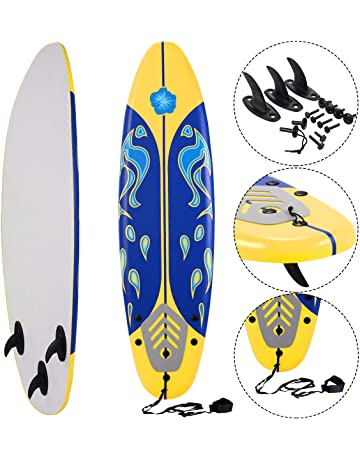 6fb332fa98b2 Giantex 6' Surfboard Surfing Surf Beach Ocean Body Foamie Board with  Removable Fins, Great
