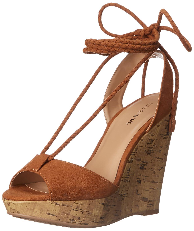 Call It Spring Women's Treawen Wedge Sandal B018WI0QM8 6.5 B(M) US|Cognac