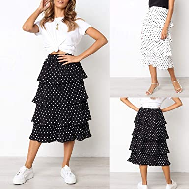 Vectry Mujer Chiffion Boho Estampadoing Party Chiffion High Waist ...