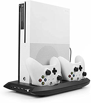 TPFOON Xbox One S Vertical Stand With Cooling FanDual Xbox One