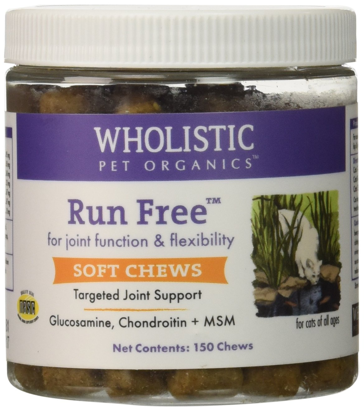 Wholistic Pet Organics 150 Count Run Free Soft Chews Supplement