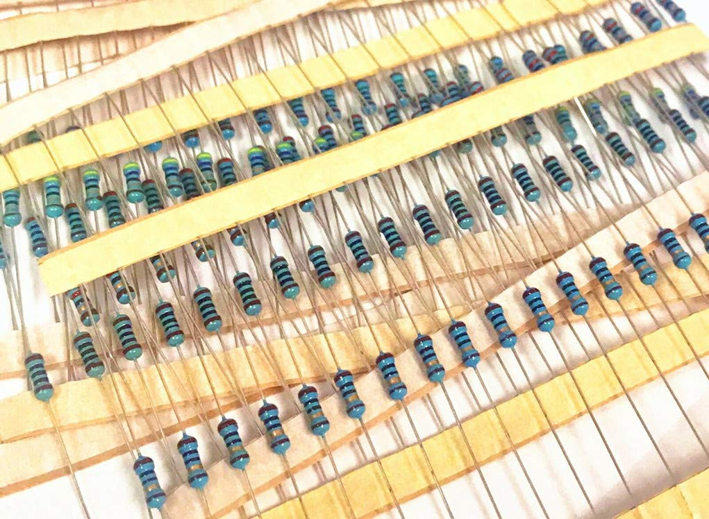 1M Ohm Metal Film Resistor Assortment 600Pcs 30 Values 1//4W 1/% Resistor Kit Assortment 10ohm