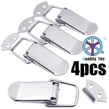 SamIdea TM 2-Pack Box Chest Case Spring Loaded Draw Toggle Latch Clamp,90x20mm,SUS201 Stainless Steel