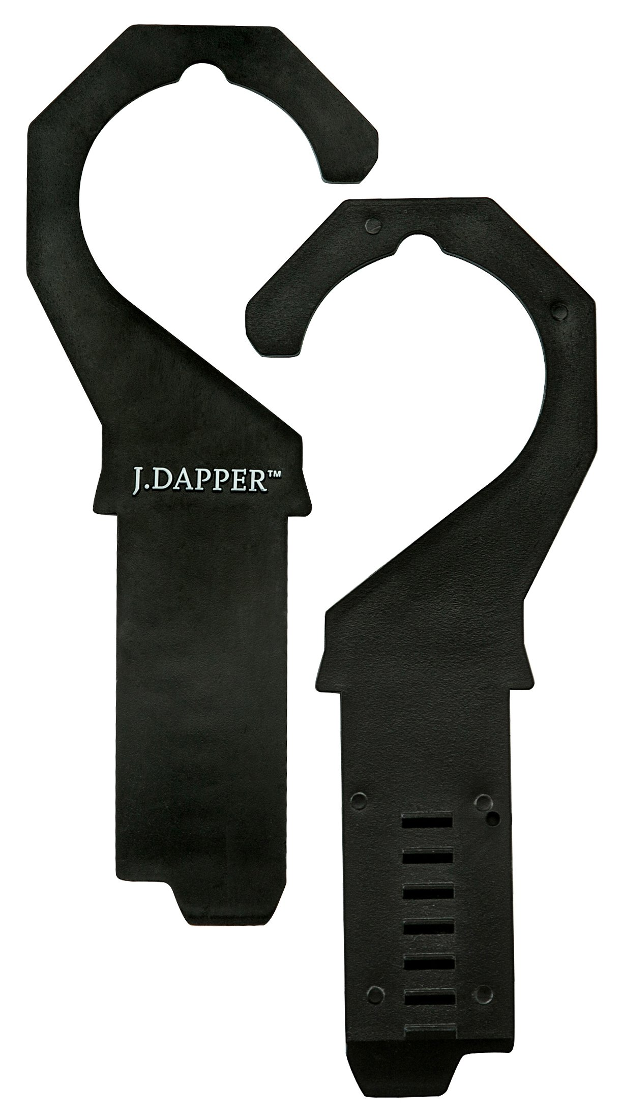 Men's Black Ratchet Belt - Black and Silver Open Style - by J. Dapper by J. Dapper (Image #7)
