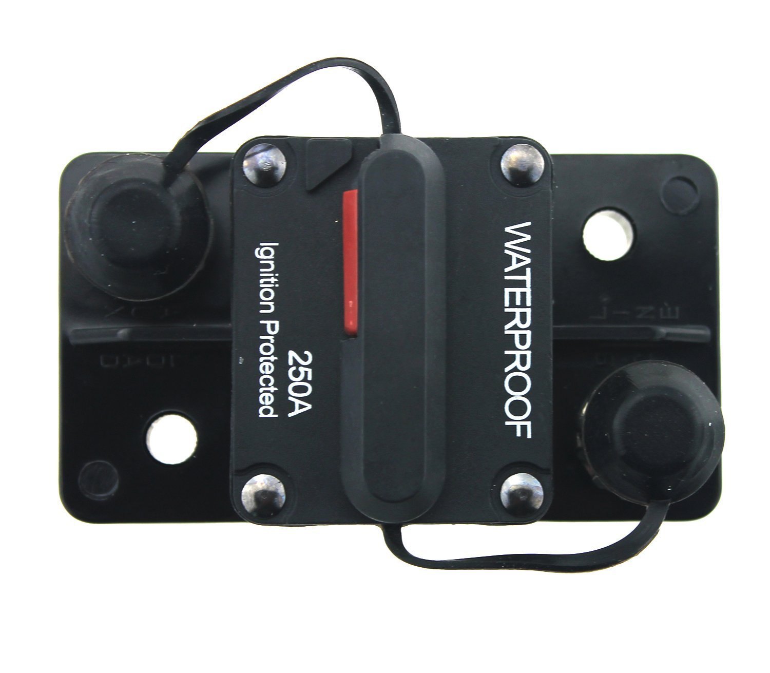 Photo-Top 180A-250A Hi-Amp Circuit Breaker T3+Switch with Manual Reset Water Proof