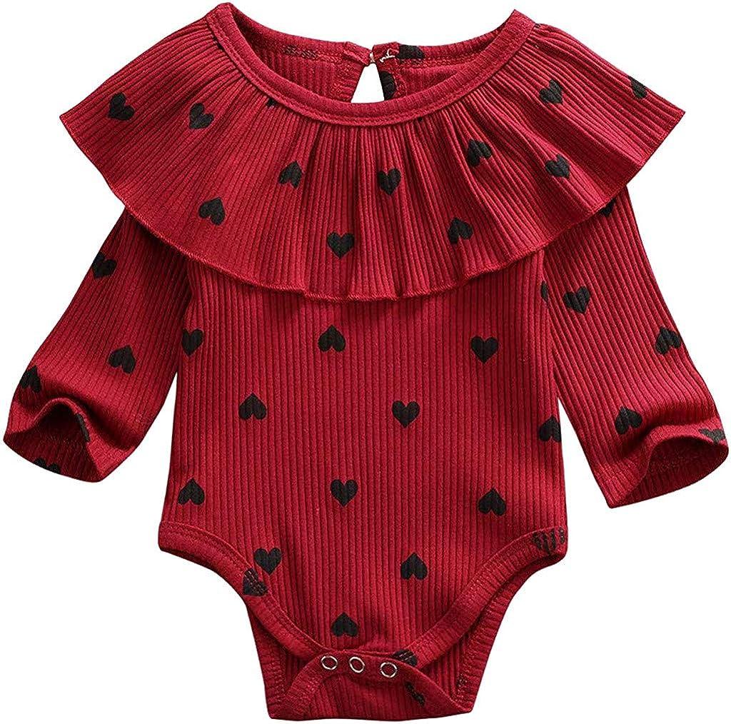YONSIN Baby Body S/ü/ß Strampler Drucken Babykleidung Neugeboren Junge M/ädchen lustig Langarm Spielanzug Einfarbig Tops /übersteigt Hosen Sommer Kleidung Outfits 0-24 Monate