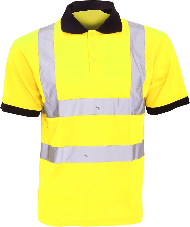 Yoko - Trabajar//Reflectante Tallas Grandes hasta 6XL Polo//Camiseta//Camisa de Seguridad de Alta Visibilidad Paquete de 2