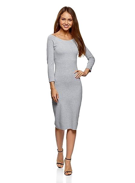 oodji Ultra Mujer Vestido con Escote Barco (Pack de 2), Gris, ES