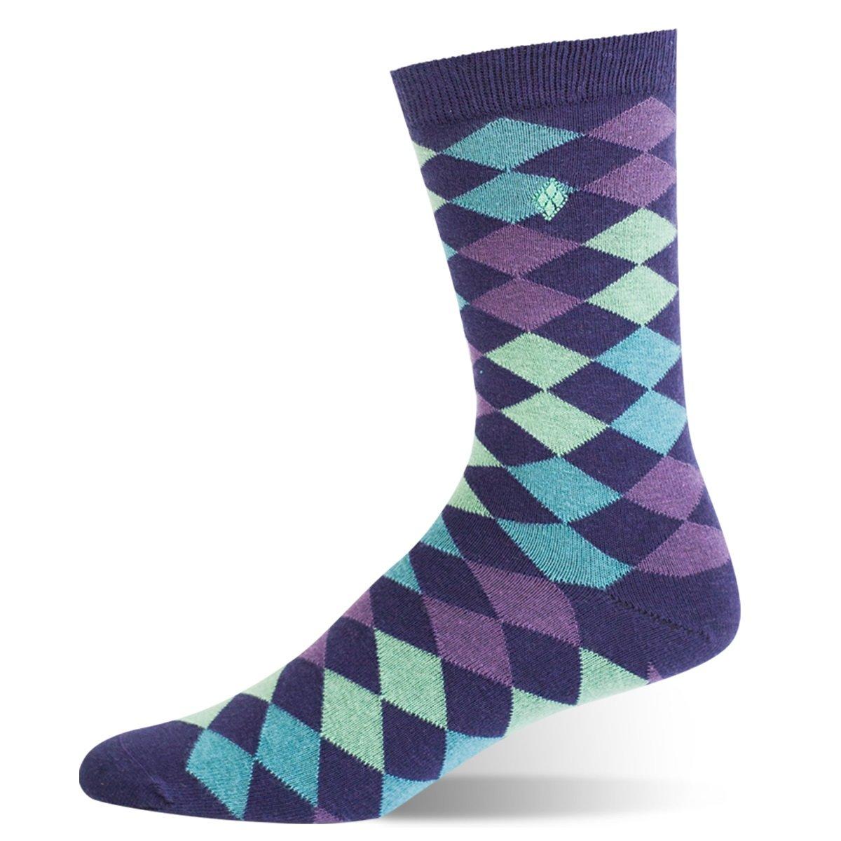 Argoz Mens Chameleon Purple Green Sock